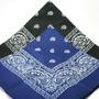 Kit 2 Bandanas Lenços 1 Preto+1 Azul Bic - Rock 100% Algodão