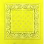 Lenço Bandana Amarela Ln041