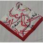 Lenço Feminino Branco/vermelho/geométrico/floral Scania