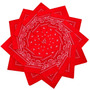 Lenço Bandana Vermelha - Axl Rose Johnny Depp - Várias Cores