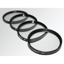 Kit 4 Filtros Close-up Macro +1 +2 +4 & +10 Lente 52mm Nikon