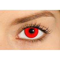 Lente De Contato Vermelha Soflex Hype Solótica *frete Grátis