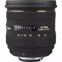 Lente Sigma 24-70mm F/2.8 Autofoco Ex Dg Hsm Se Para Nikon