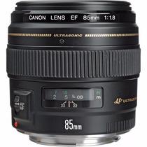 Canon Ef 85mm F/1.8 Usm Lente Telefoto Nova Caixa Original