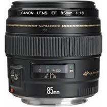 Lente Canon Ef 85mm F/1.8 Usm Para Câmeras Digitais Eos F1.8