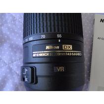 Lente Af-s Dx Nikkor 55-300mm F/4.5-5.6g Ed Vr - Nova + Nf