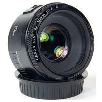 Lente Objetiva Canon Ef 50mm F/ 1.8 Ii T3i T4i 60d 7d 5d Top