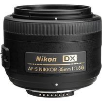 Lente Nikon 35mm 1.8g Af-s Dx Case Para-sol Garantia 1 Ano