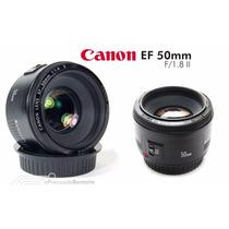 Lente Canon Ef 50mm F/1.8 Ii - Pronta Entrega Grátis Poa