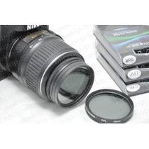 3 Filtros 52mm Nikon Uv / Circular Polarizador / Difusor