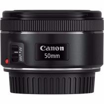 Lente Canon Ef 50mm F/1.8 Stm Com Nota Fiscal Garantia Canon