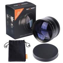 Super Lente Telefoto Hd 2.2x Câmera 52 Mm Nikon D3000 D3100