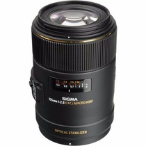 Lente Sigma 105mm F/2.8 Ex Dg Hsm P/ Nikon Retirada No Local