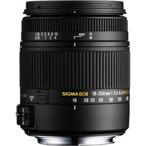 Lente Sigma 18-250mm F3.5-6.3 Dc P/ Nikon + Filtro Uv