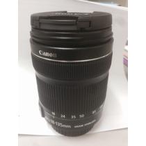 Lente Canon 18 135 Mm Stm Nova - Aceito Trocas