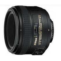 Lente Nikon Af-s Nikkor 50mm F/1.4 G Master Tronic Loja-sp