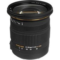 Lente Sigma 17-50mm F2.8 Ex Dc Os Hsm P/ Canon + Filtro Uv