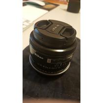 Lente Nikon Af Nikkor 50mm 1.4 + Adpt Canon - Aceito E-mount