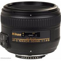 Lente Nikon Af-s Nikkor 50mm F/1.4g Caixa Lacrada Em Sp
