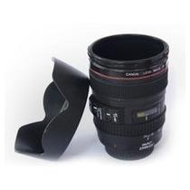 Caneca Copo Em Forma De Lente Câmera Logo Canon Ef 24-105mm
