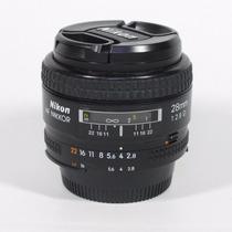 Lente Fx Full Frame Af-n 28mm F/2.8 D Grande Angular Clara