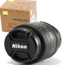 Lente Objetiva Nikon 50mm F1.8 Auto-foco Nikkor F/1.8d