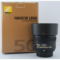 Lente Nova Nikon Nikkor 50mm F/1.8g 1 Ano Garantia Platinum