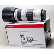 Lente Canon Nova 70-200mm F/4l Is Usm Mercadolider Platinum
