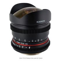 Lente Rokinon 8mm T/3.8 Fisheye Cine Para Canon Ou Nikon
