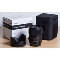 Lente Nova Sigma 35mm 1.4 Art P/ Nikon Mercadolider Platinum