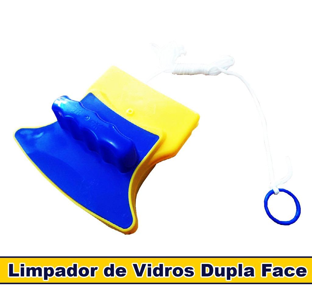 #C7AA04 Limpa Vidros Magnético Rodo Mágico Dupla Face C/ Super Ímã R$ 38  790 Limpa Vidros E Janelas Magnético