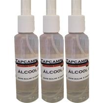 03 Unidades Álcool Isopropílico Spray 100% Puro 120 Ml