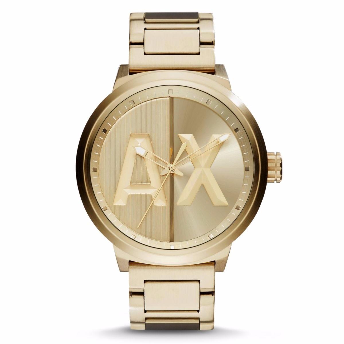 9109e90439b7 reloj armani exchange dorado precio