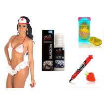 Kit Fantasia Enfermeira + Produtos Eróticos Sex Shop Médica