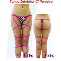 Tanga Erótica Zebrinha C/perneira Super Sexy C/ Brinde