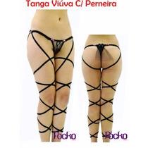 Tanga Sexy Erótica Viúva Negra Com Perneira C/brinde