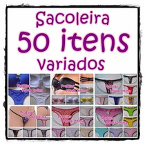 Kit Sacoleira 50 Itens Calcinha Tanga Soutien Sutiã Atacado