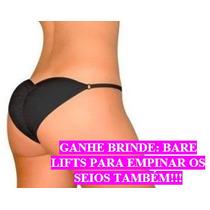Calcinha Tanga Enchimento Bumbum Brazilian Secret + Brinde