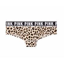 Calcinha Cotton Leopardo Pink Victorias Secret