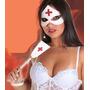 Kit Máscara E Chicote Enfermeira !!! Liquidação Carnaval !!!