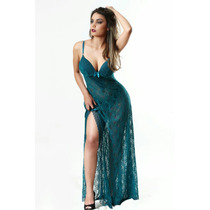 Camisola Longa Sexy Renda Para Noivas
