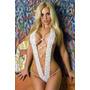 Lingerie Sexy Branca - Sensual Erótica Ajustavel!