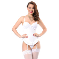 Espartilho Com Bojo Branco Noiva Mcl Modelo Lindo