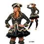 Fantasia Feminina Festa Adulto Pirata Negra Pronta Entrega