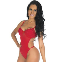Body Gostosa Tulle Bojo Estruturado Pimenta Sexy