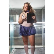 Fantasia Sensual Gatinha Colegial Plus Size - Frete Especial