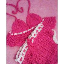 Conjunto Cropped E Calsinha De Crocher