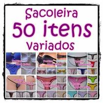Kit Revenda 50 Peças Conjunto Lingerie Calcinha Tangas Sutiã