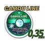 Kit Com 10 Linhas De Pesca 0,35mm Camou Line 100 Mts Cada