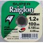 Linha Monofilamento Super Raiglon 1.2 - 0.185mm - 100m
